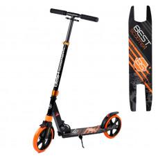 """Самокат двухколесный """"Best Scooter"""" 213681, колеса PU, d колес - 200мм, 1 амортизатор передний, в коробке, Черный"""