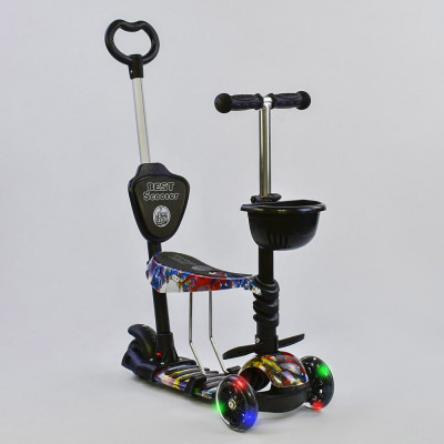 Самокат 5в1 Best Scooter Абстракция с подсветкой колес (26900)