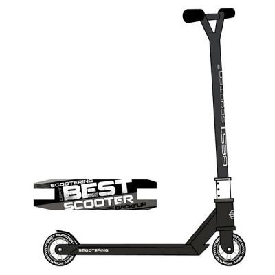 Самокат трюковый Best Scooter HIC-система (Черный с белым)