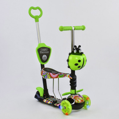 Самокат 5в1 Best Scooter Абстракция с подсветкой колес (33650)