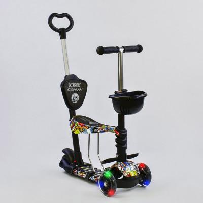 Самокат 5в1 Best Scooter Абстракция с подсветкой колес (34760)
