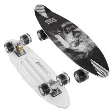 """Скейт Пенні борд """"Лев"""" дошка = 60 см, колеса PU, світяться, d = 6см 45220 """"Best Board"""""""