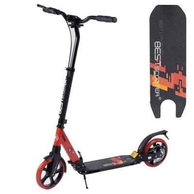 Самокат алюминиевый Best Scooter (Черный с красным)