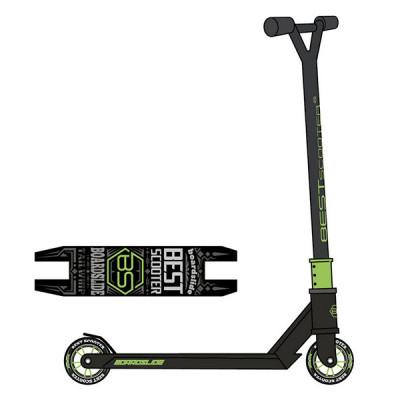 Самокат трюковый Best Scooter (Черный с зеленым)