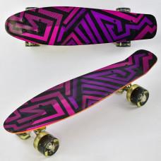 Скейт F 5490 Penny board доска-55см, со светящимися колесами