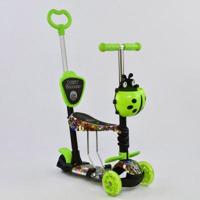 Самокат 5в1 Best Scooter Абстракция с подсветкой платформы и колес (59050)