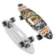 """Скейт Пенні борд дошка = 60 см, колеса PU, світяться, d = 6см 71090 """"Best Board"""""""