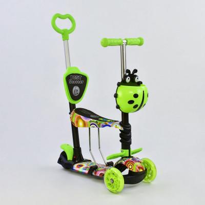 Самокат 5в1 Best Scooter Абстракция с подсветкой платформы и колес (71205)