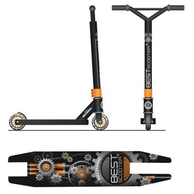 Трюковый самокат Best Scooter Mechanic - Оранжевый