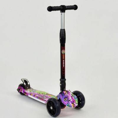 Детский 3-х колесный самокат Best Scooter светящиеся колеса (7505)