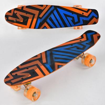 Скейт Penny board доска-55см, со светящимися колесами (F 7620)