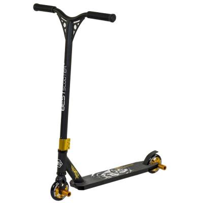 Самокат трюковый Best Scooter HIC-система - Черный с золотым