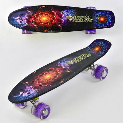 Скейт Penny board доска-55см, со светящимися колесами (F 8740)