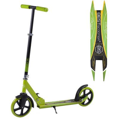 Детский двухколесный складной самокат Best Scooter - Салатовый