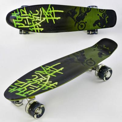 Скейт Penny board дека-55см, со светящимися колесами (F 9160)