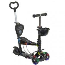 Детский самокат 5в1 Best Scooter Абстракция (Черный)
