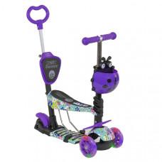 Детский самокат 5в1 Best Scooter Абстракция (Фиолетовый)