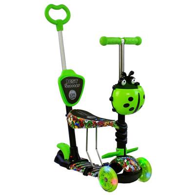 Детский самокат 5в1 Best Scooter Абстракция (Зеленый)