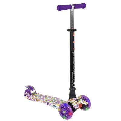 Самокат Best Scooter Maxi Graffiti (Фиолетовый)