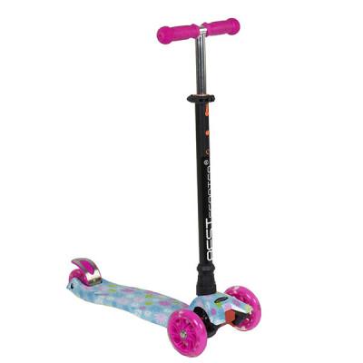 Самокат Best Scooter Maxi Flower (Розово-голубой)