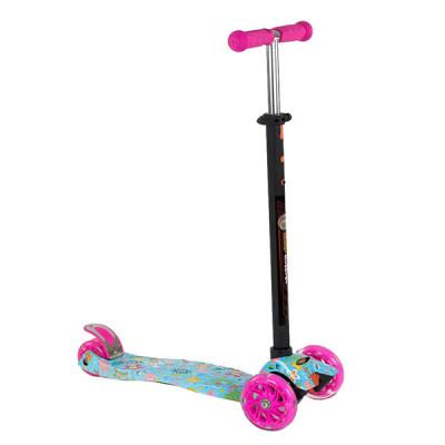 Самокат Best Scooter Maxi Graffiti (Розово-голубой)