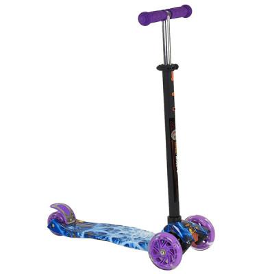 Самокат Best Scooter Maxi Graffiti (Фиолетово-голубой)