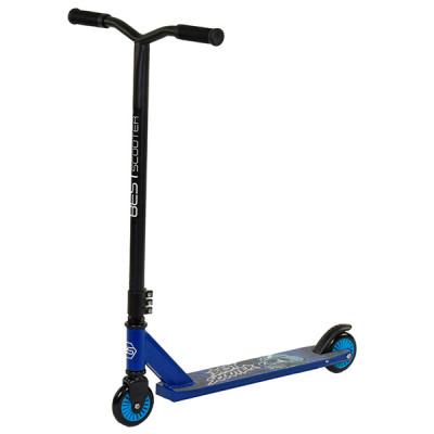 Самокат трюковый металлический Best Scooter Синий
