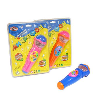 Музыкальный микрофон Joy Toy со световыми эффектами, 6 мелодий, 3 вида (7043)