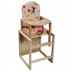 Детский стульчик для кормления из дерева