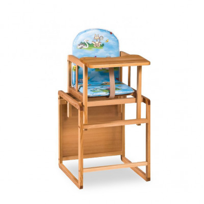 Детский стульчик-трансформер со столом для кормления из дерева (дерево-03)