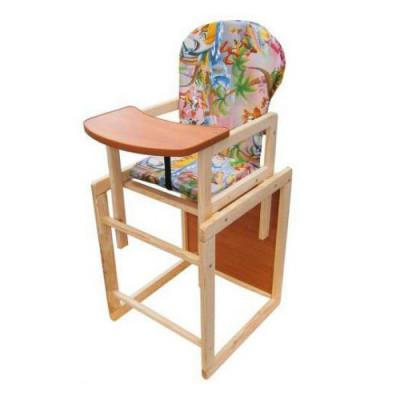 Детский стульчик-трансформер со столом для кормления из дерева (дерево-04)