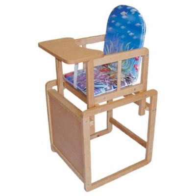 Детский стульчик-трансформер со столом для кормления из дерева (дерево-05)