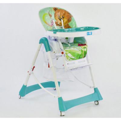 Детский стульчик для кормления JOY Бирюзовый (J 3900)