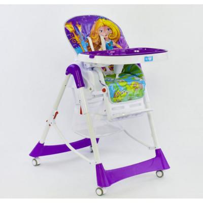 Детский стульчик для кормления JOY Фиолетовый (J 5500)