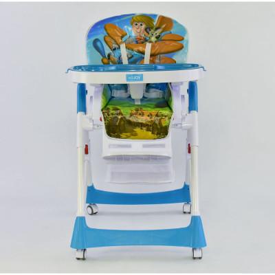 Детский стульчик для кормления JOY Голубойй (J 7600)