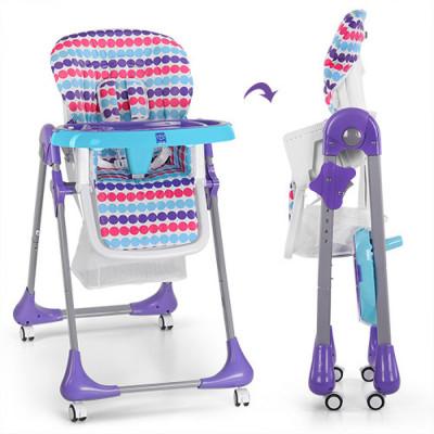 Детский стульчик для кормления Bambi Фиолетовый (M 3233-12)