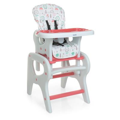 Дитячий стільчик для годування-трансформер зі столиком, Flowers Pink (0816)