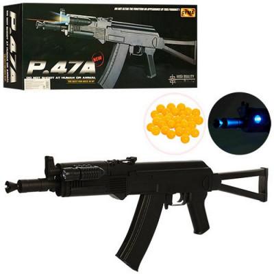 Детский пневматический автомат AK-47 c пpиклaдoм Cyma (P47A)