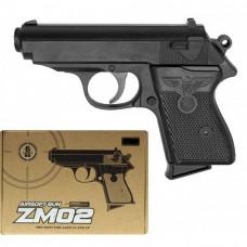 Пистолет ZM02 металлический на пульках (6мм)