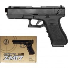 Детский пистолет ZM17 копия Glock 18C металл+пластик