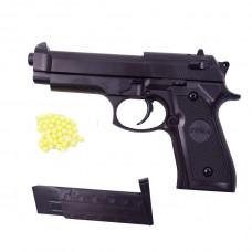 Детский пистолет ZM18 металл+пластик, с пульками и магазином