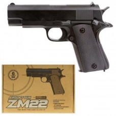 Детский пистолет ZM 22 пластик+металл, стреляет пластиковыми пулями