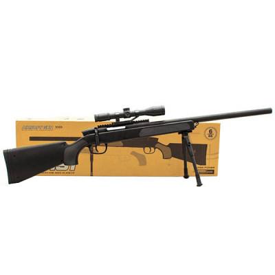Снайперская детская винтовка «Airsoft Gun» CYMA ZM51 стреляет пластиковыми пулями 110 см