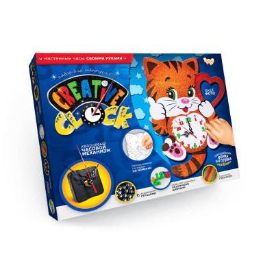 Набор для творчества Часы Creative clock Котик Danko toys (СС-01-01)