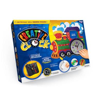 Набор для творчества Часы Creative clock Паравозик Danko toys (СС-01-02)