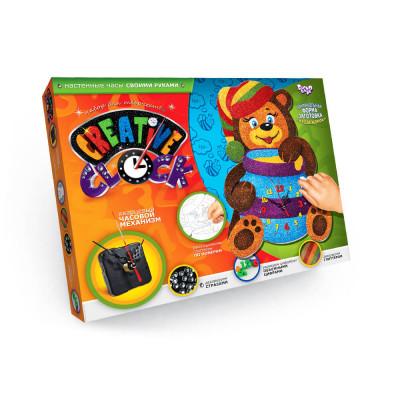 Набор для творчества Часы Creative clock Мишка Danko toys (CC-01-05)