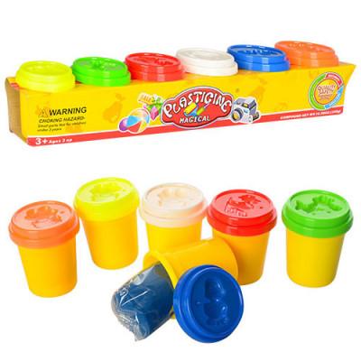 Набор пластилина для лепки Plasticine 6 цветов (1116)