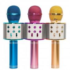 """Беспроводной микрофон караоке """"WSTER"""" WS 858, Bluetooth и USB зарядка"""