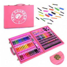 Набор для творчества, 132 предмета, голубой и розовый