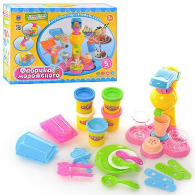 Набор для лепки Волшебный пластилин Фабрика мороженого, аналог Play-Doh  (MK 0078)